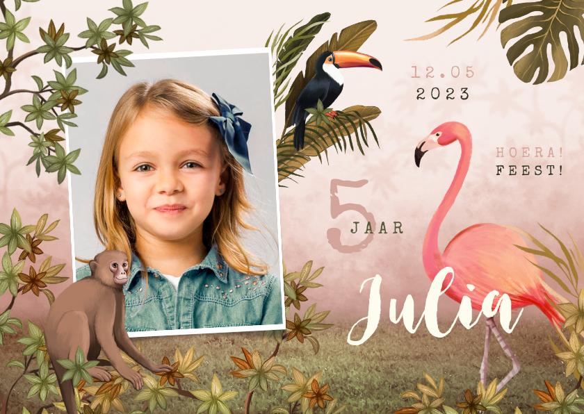 Kinderfeestjes - Kinderfeestje jungle dieren tropisch meisje foto