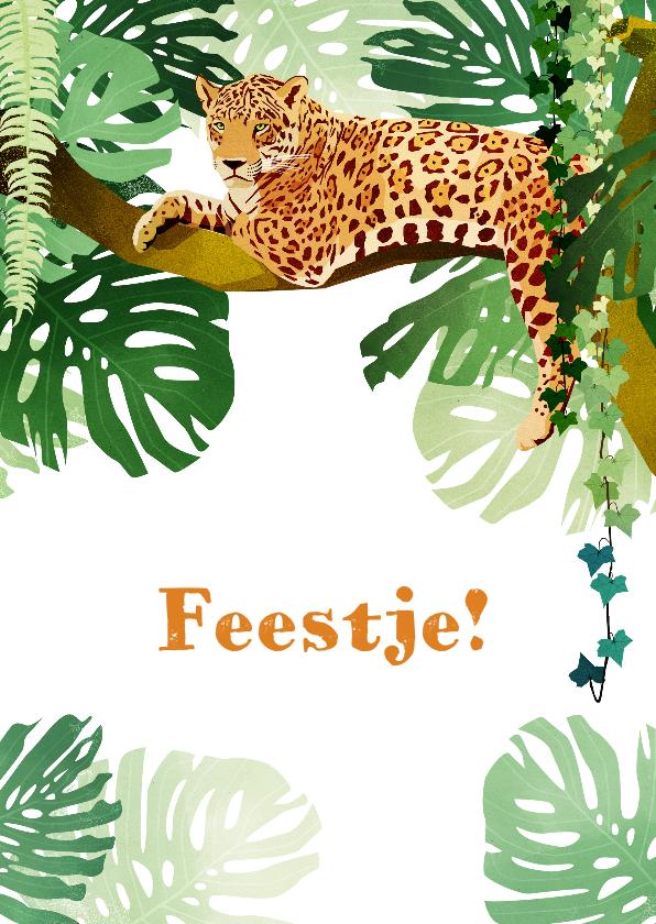 Kinderfeestjes - Kinderfeestje jungle uitnodiging