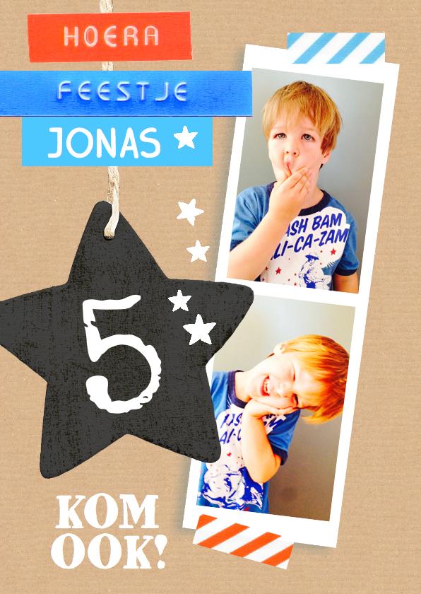 Kinderfeestjes - Kinderfeestje karton ster Jonas
