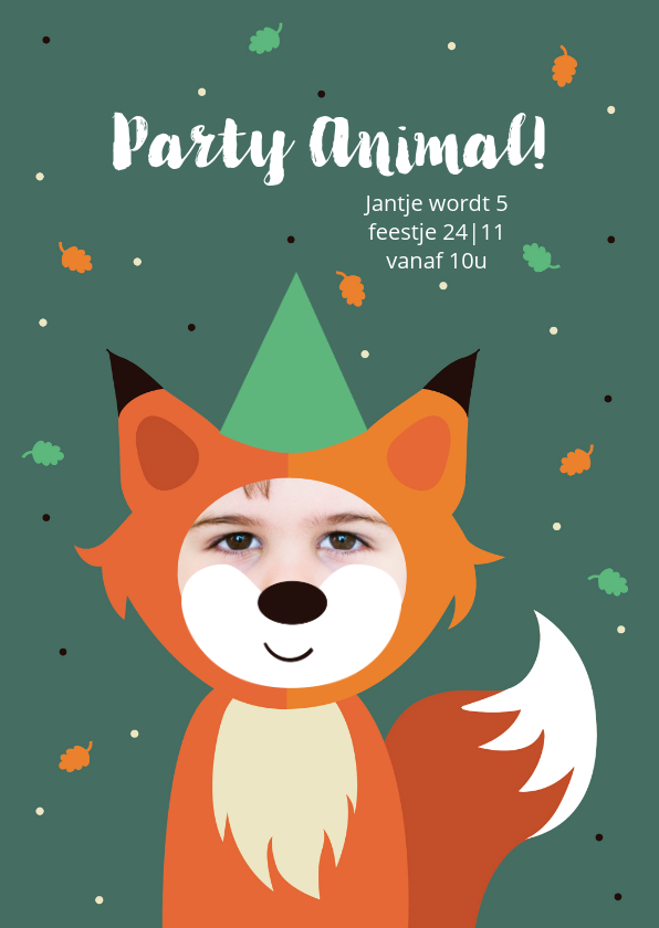 Kinderfeestjes - Kinderfeestje kind als vosje