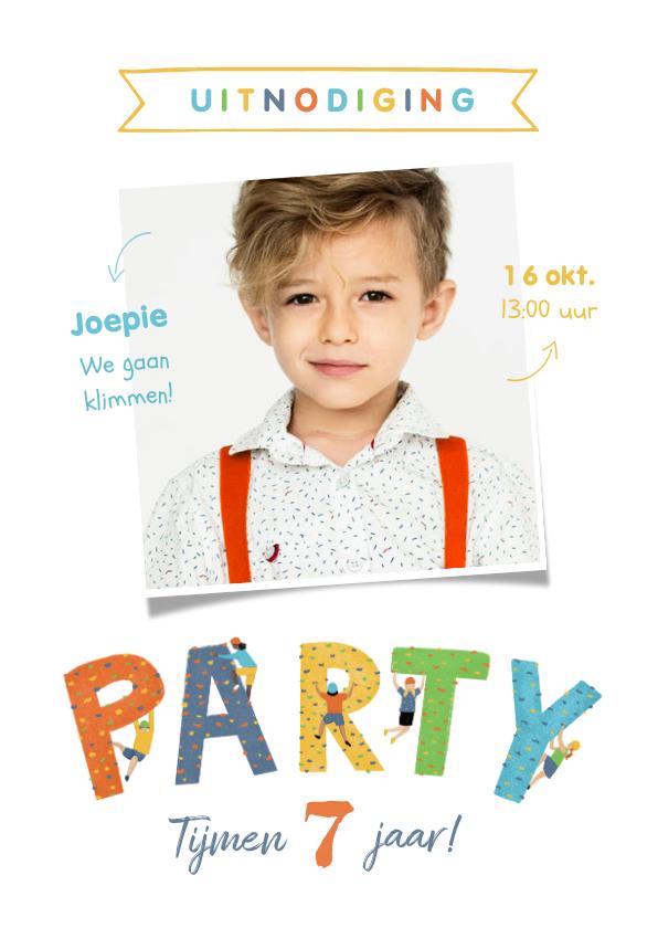 Kinderfeestjes - Kinderfeestje klimmen indoor vrolijk sportief party foto