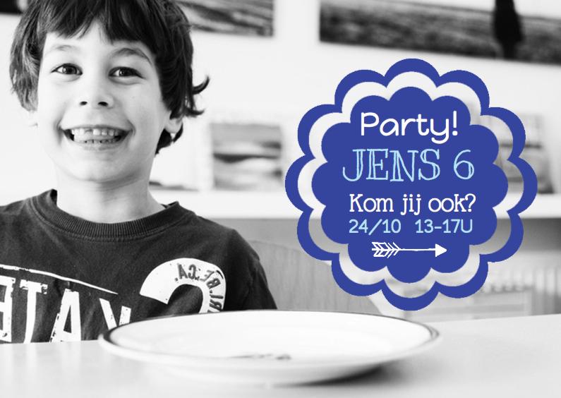 Kinderfeestjes - Kinderfeestje label hippe fotokaart