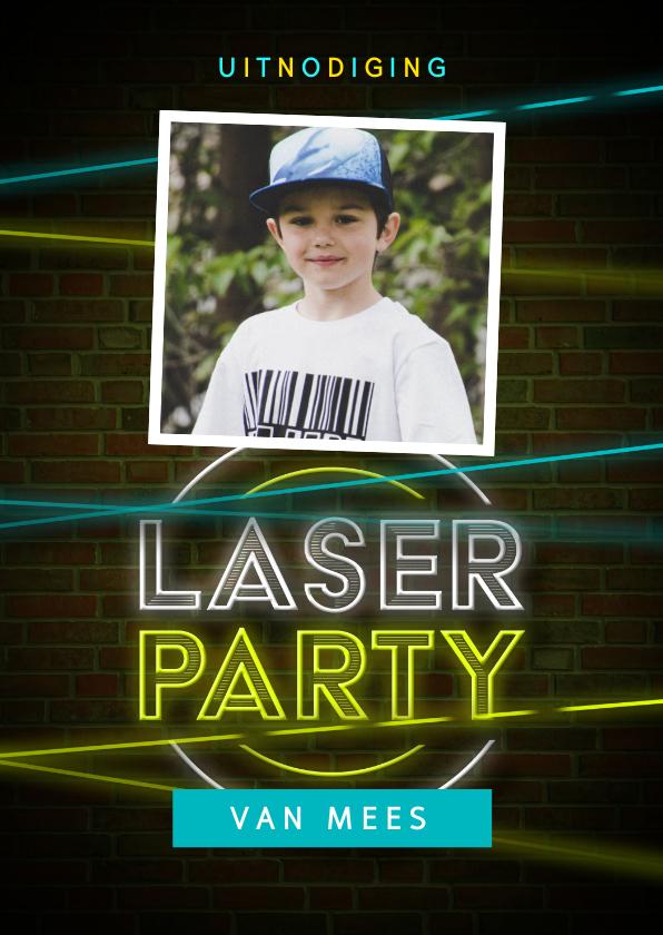 Kinderfeestjes - Kinderfeestje lasergamen jongen stoer foto laser