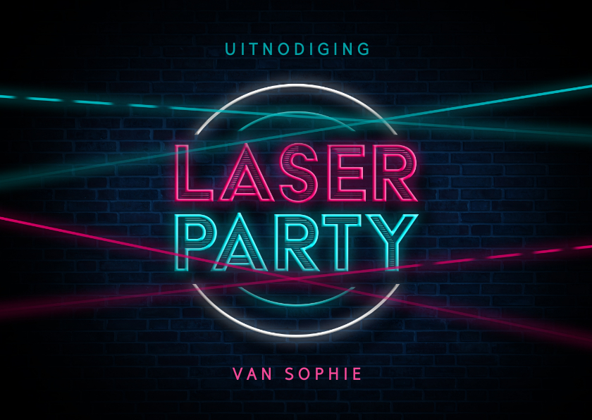 Kinderfeestjes - Kinderfeestje lasergamen party neon activiteit schieten