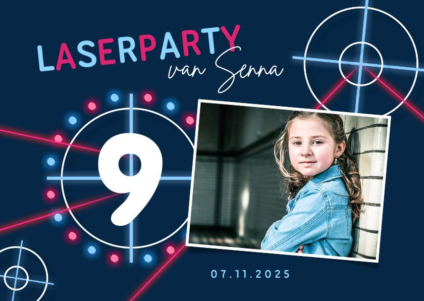 Kinderfeestjes - Kinderfeestje lasergames meisje neon foto laserschieten