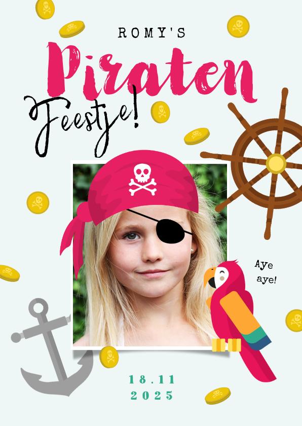 Kinderfeestjes - Kinderfeestje meisje stoer piratenfeest piraat schatzoeken