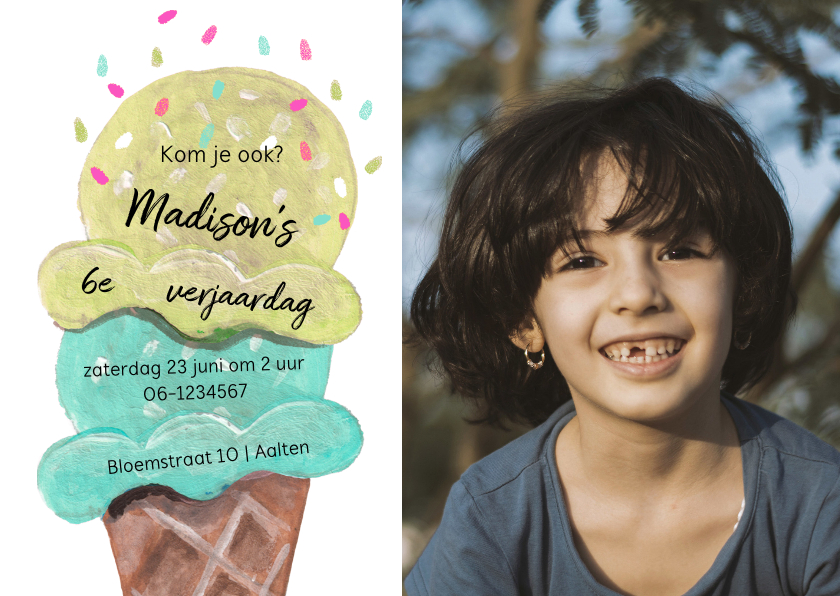 Kinderfeestjes - Kinderfeestje met een lekker ijsje
