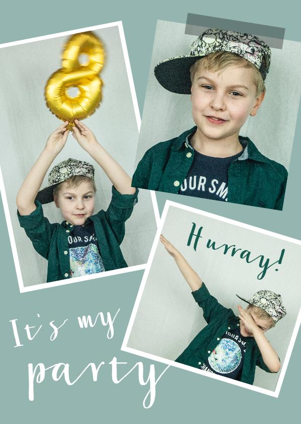 Kinderfeestjes - Kinderfeestje met zelf aan te passen gekleurde achtergrond