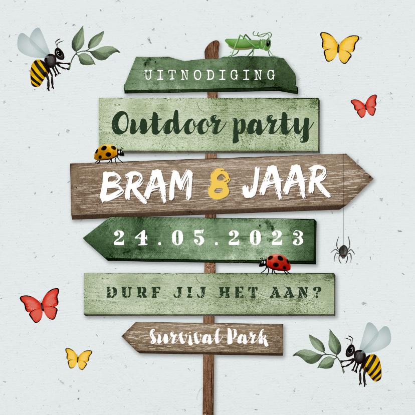 Kinderfeestjes - Kinderfeestje outdoor insecten wegwijzers jungle