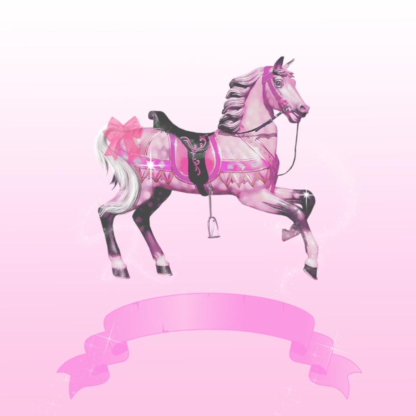 Kinderfeestjes - kinderfeestje paard roze