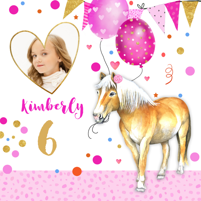 Kinderfeestjes - Kinderfeestje paardje ballonnen