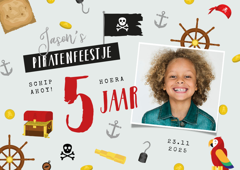 Kinderfeestjes - Kinderfeestje piraten thema foto feestje munten