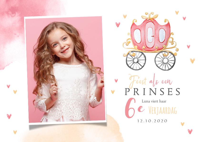 Kinderfeestjes - Kinderfeestje prinses koets hartjes kroontje foto hartjes