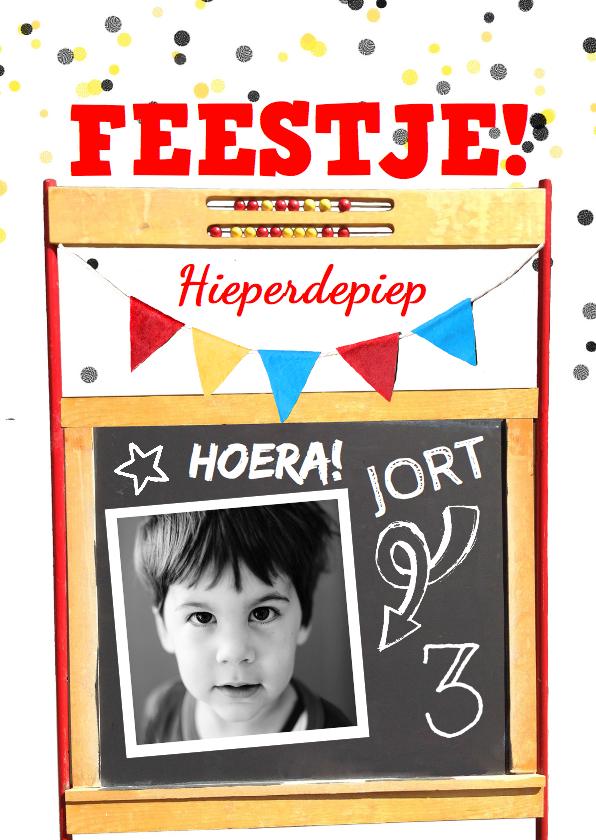 Kinderfeestjes - kinderfeestje schoolbord telraam