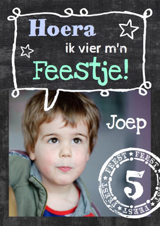 Kinderfeestjes - Kinderfeestje schoolbord uitnodiging