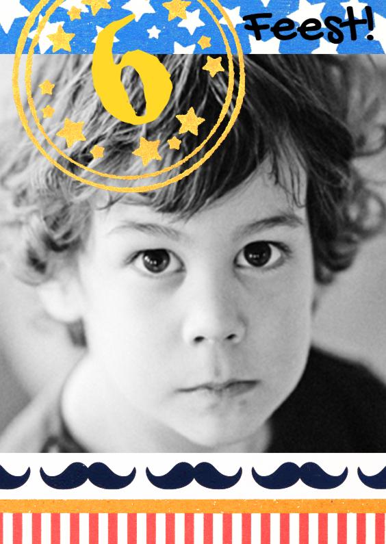 Kinderfeestjes - Kinderfeestje snor fotokaart