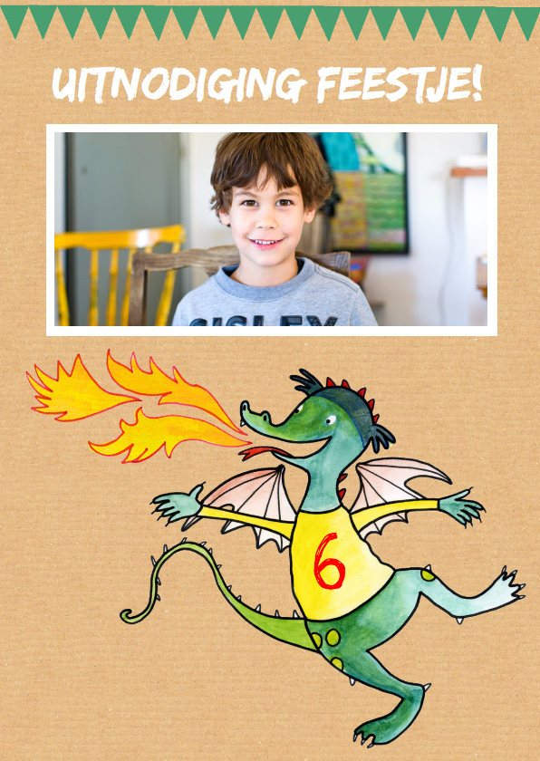 Kinderfeestjes - Kinderfeestje tekening draak
