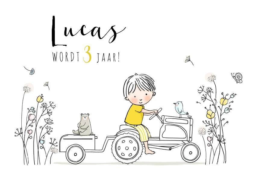 Kinderfeestjes - Kinderfeestje tractor met jongetje