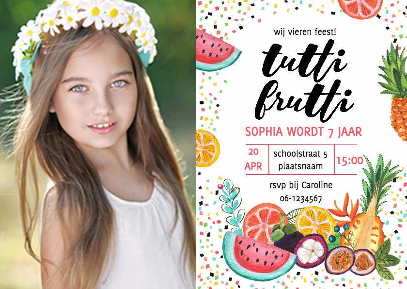 Kinderfeestjes - Kinderfeestje Tropisch Fruit