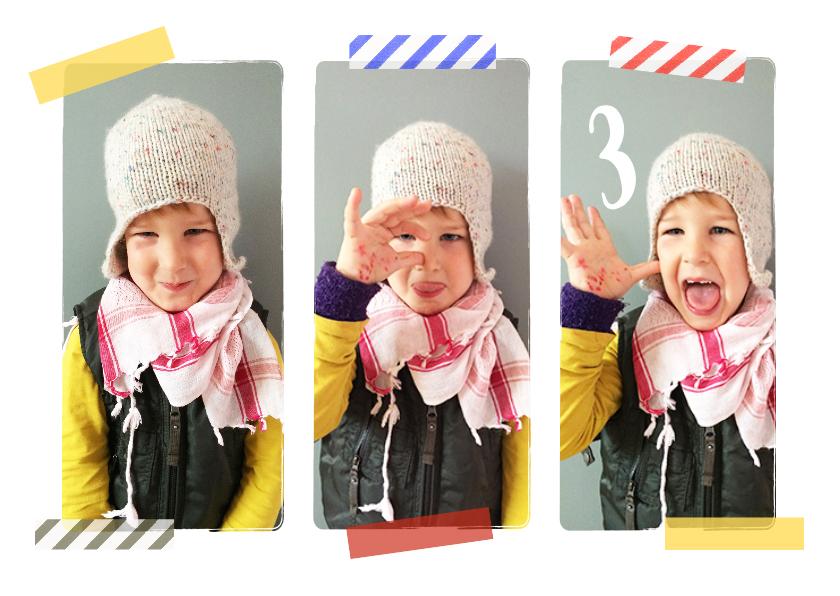 Kinderfeestjes - Kinderfeestje uitnodiging collage hip tape