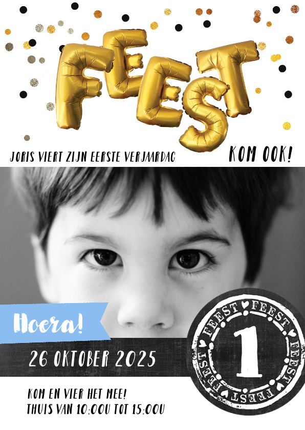 Kinderfeestjes - Kinderfeestje uitnodiging confetti feest