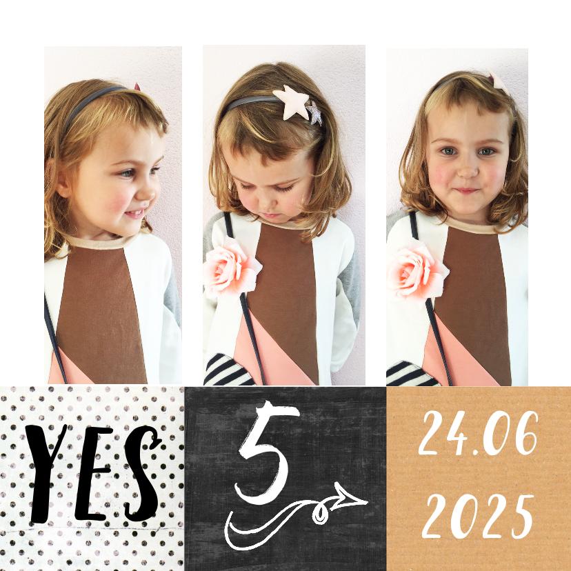 Kinderfeestjes - Kinderfeestje uitnodiging feestje fotocollage