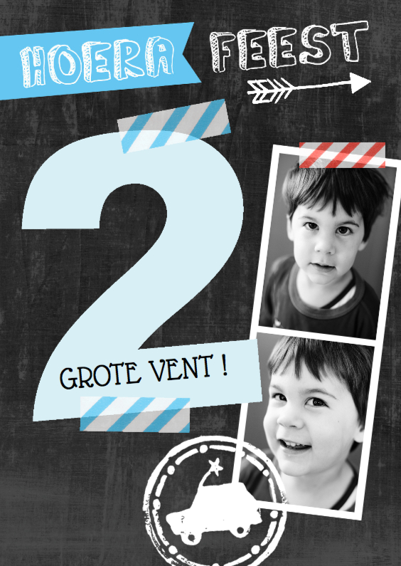 Kinderfeestjes - Kinderfeestje uitnodiging foto's 2 jaar