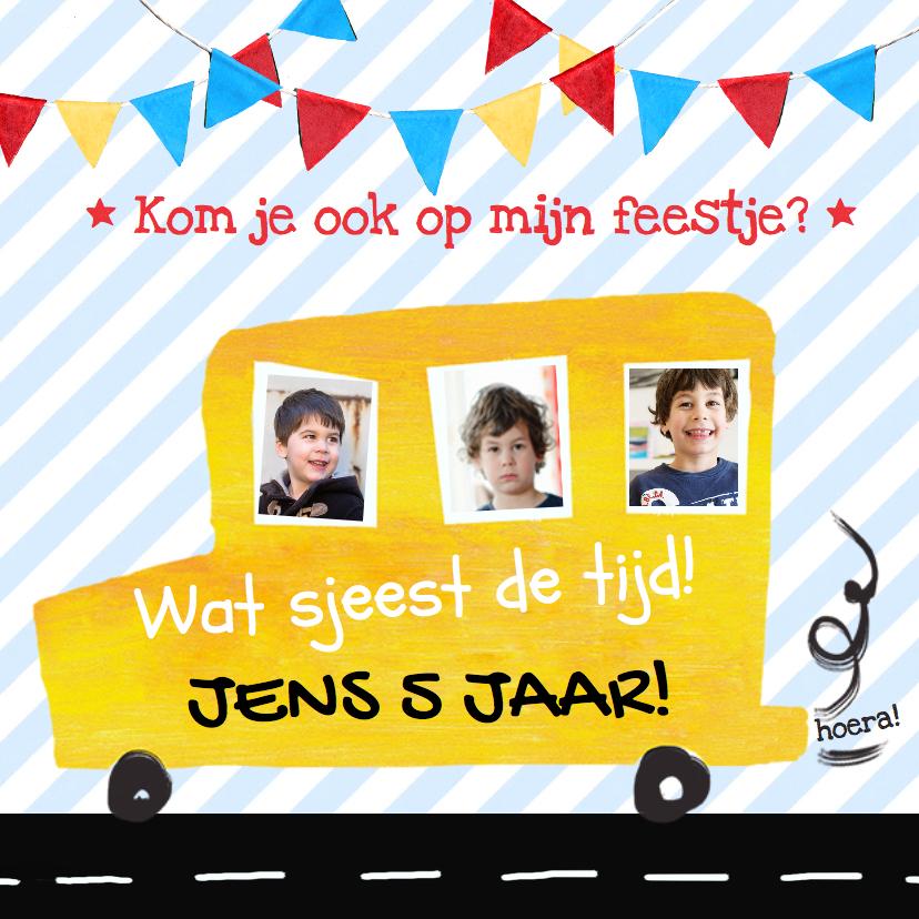 Kinderfeestjes - Kinderfeestje uitnodiging kinderfeestje auto