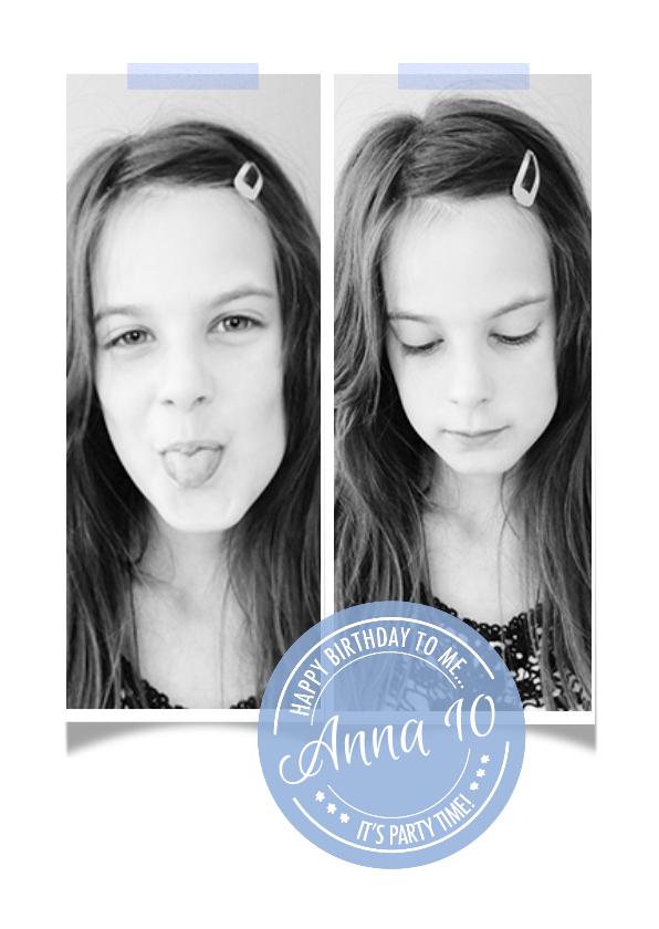 Kinderfeestjes - Kinderfeestje uitnodiging stempel Anna