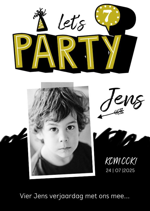 Kinderfeestjes - Kinderfeestje uitnodiging stoer graffiti party