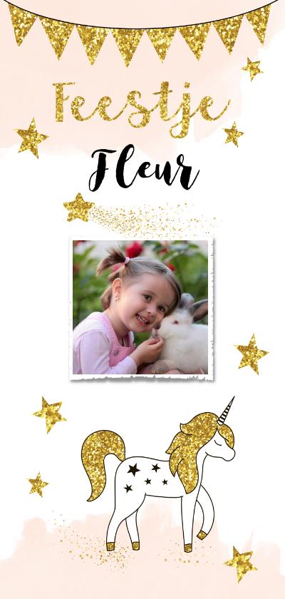 Kinderfeestjes - Kinderfeestje unicorn gouden glitter