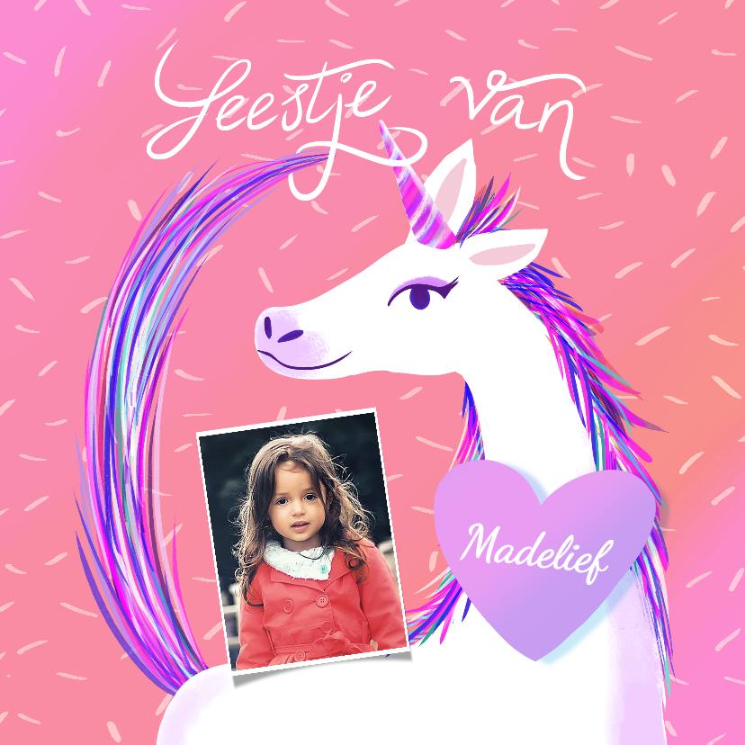 Kinderfeestjes - Kinderfeestje Unicorn met foto