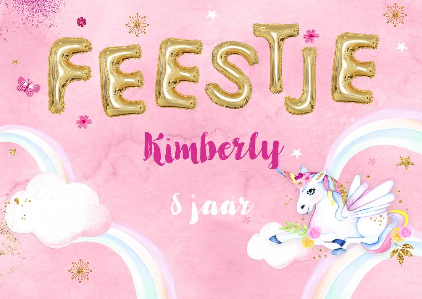 Kinderfeestjes - Kinderfeestje unicorn op wolkje
