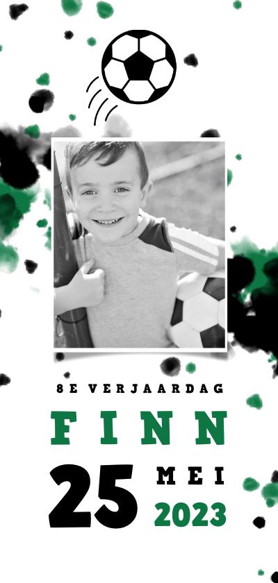 Kinderfeestjes - Kinderfeestje voetbal met foto en spetters