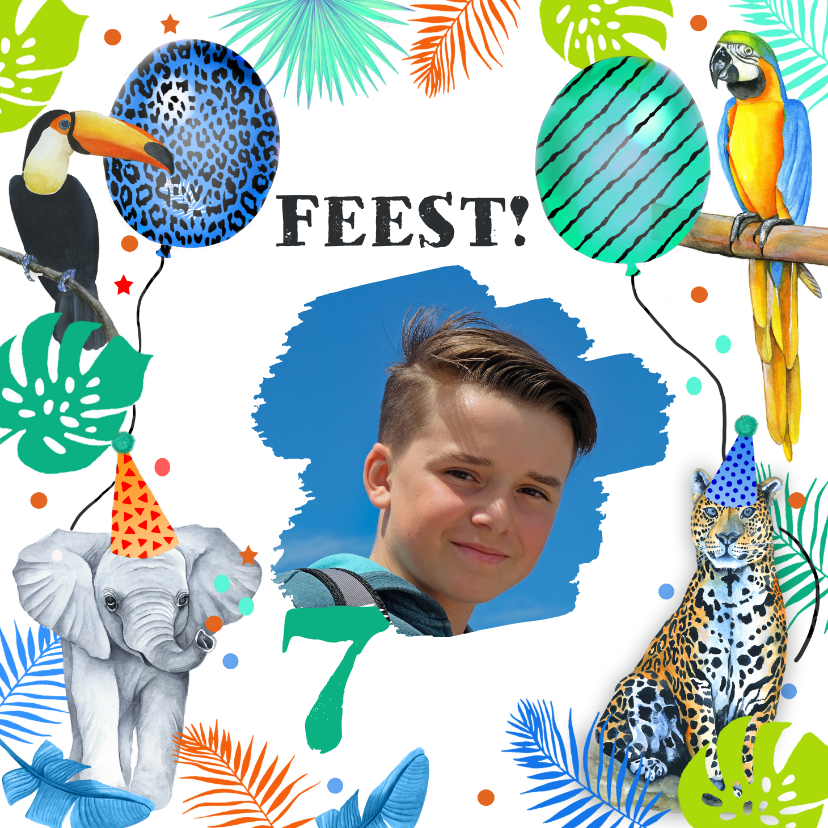 Kinderfeestjes - Kinderfeestje wilde dieren tropisch