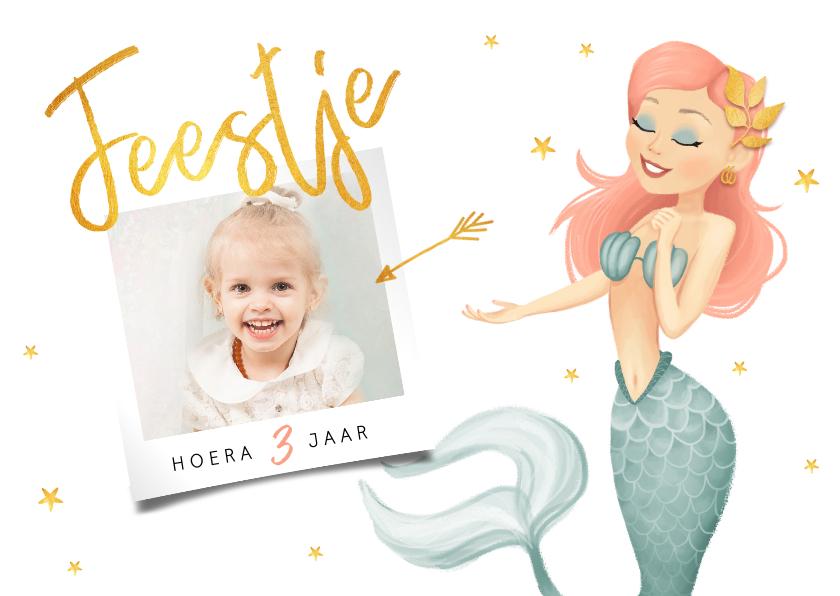 Kinderfeestjes - Kinderfeestje zeemeermin met foto en sterren