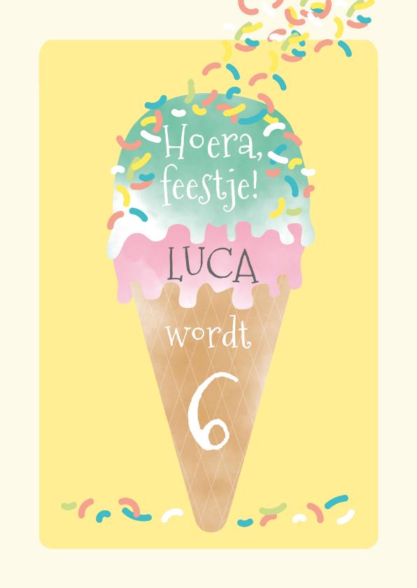 Kinderfeestjes - Kinderfeestje zomer ijsje met spikkeltjes