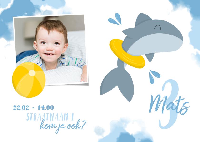 Kinderfeestjes -  Kinderfeestje zwemfeestje haai met band en bal