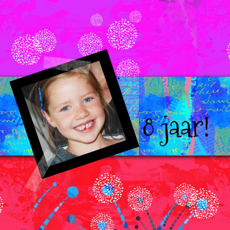 Kinderfeestjes - Kleurrijke  uitnodiging meidenfeestje