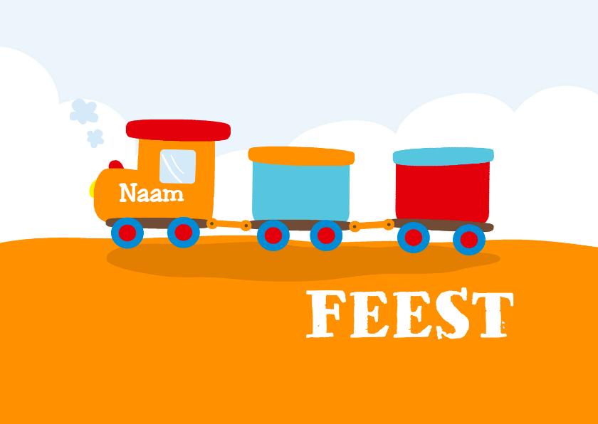 Kinderfeestjes - Leuke kinderkaart met treintje