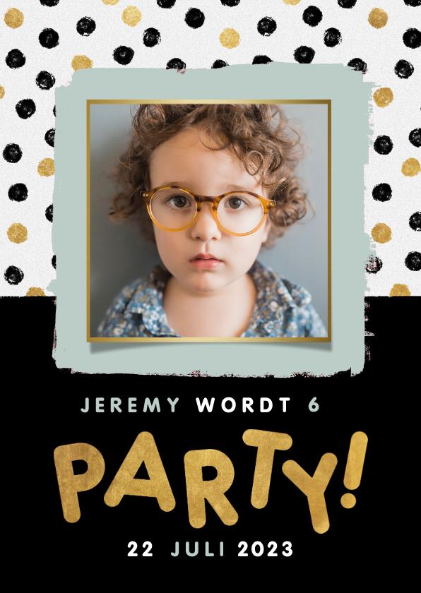 Kinderfeestjes - Leuke uitnodiging kinderfeestje met confetti, foto en party!