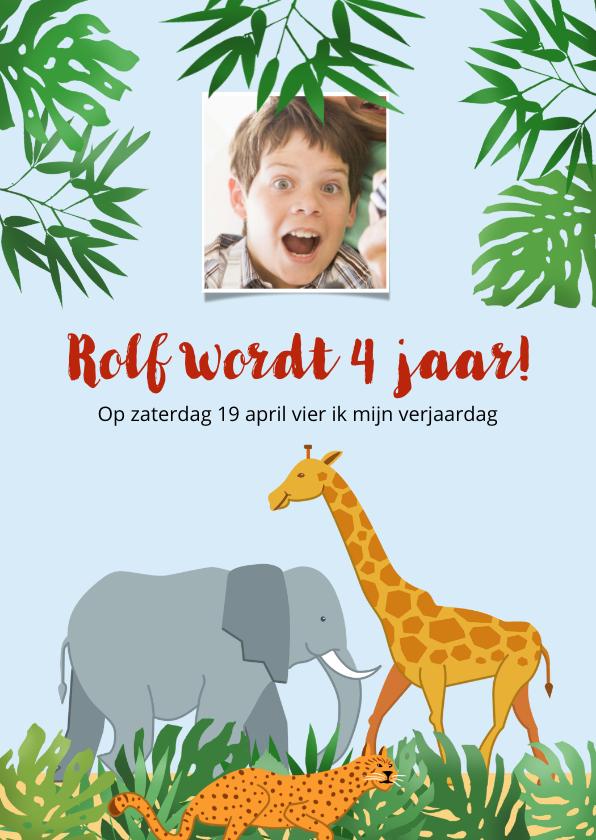 Kinderfeestjes - Leuke uitnodiging voor kinderfeest naar de dierentuin
