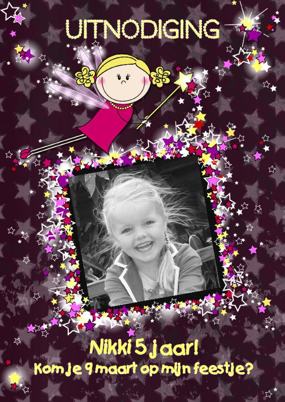 Kinderfeestjes - Lieve Fee met sterren.