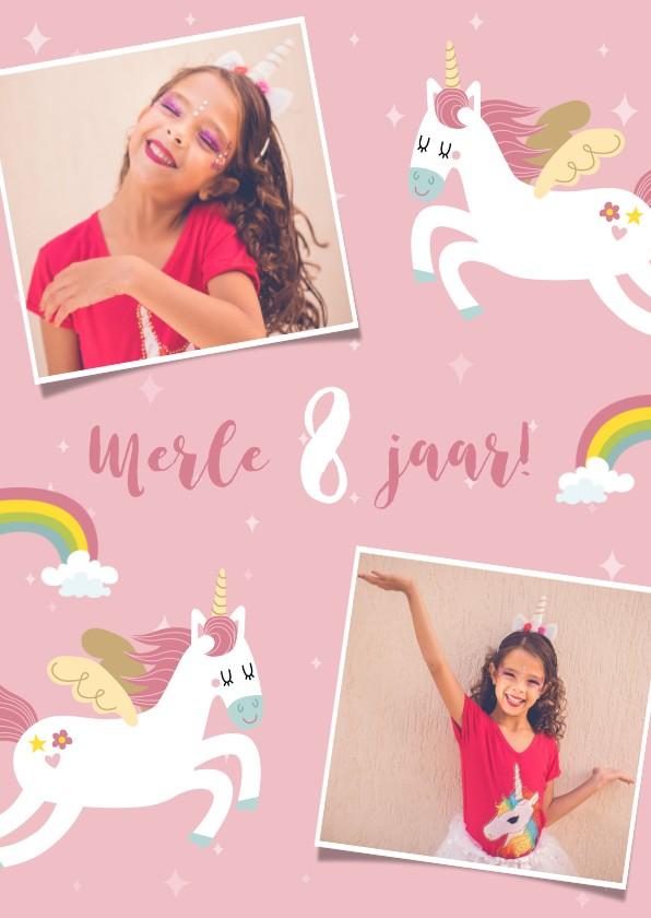 Kinderfeestjes - Lieve uitnodiging voor een kinderfeestje met eenhoorns