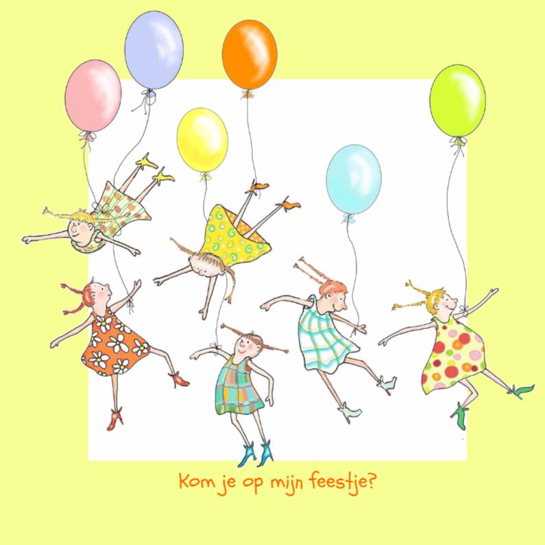 Kinderfeestjes - Meisjes met ballonnen
