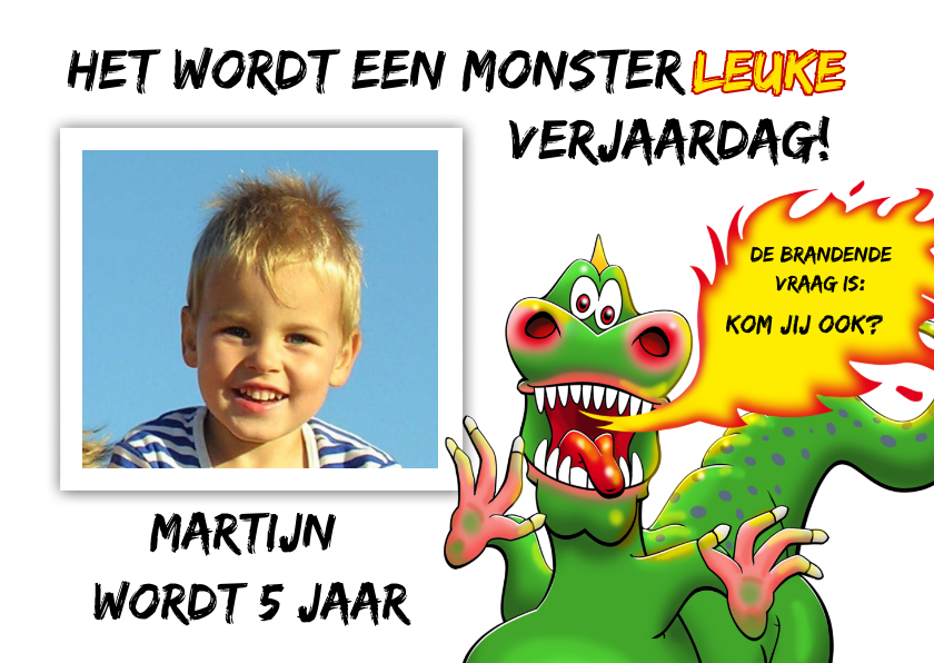 Kinderfeestjes - Monsterleuke verjaardagsfeestje voor kind