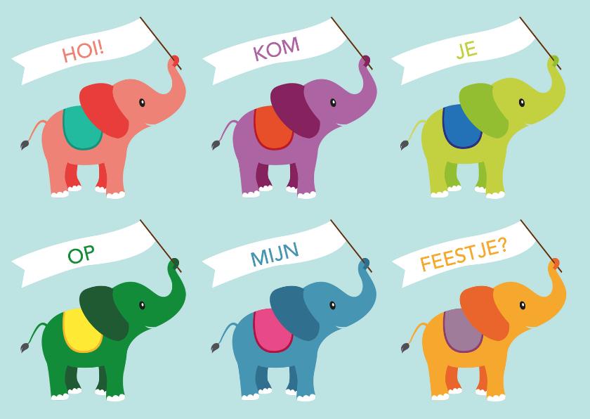 Kinderfeestjes - olifanten feestje