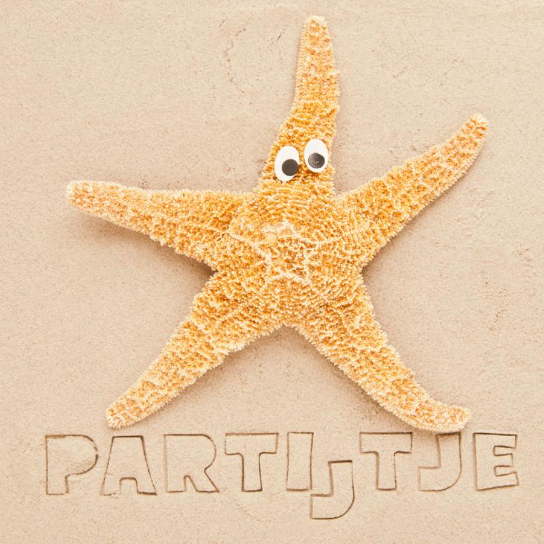 Kinderfeestjes - Partijtje op strand met zeester