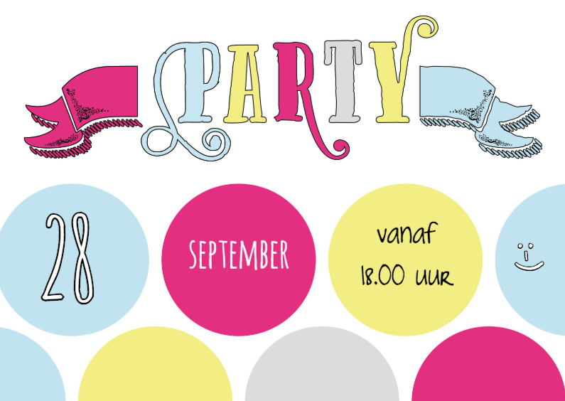Kinderfeestjes - Party Label Stip