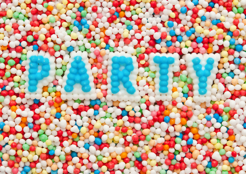 Kinderfeestjes - PARTY van snoep letters